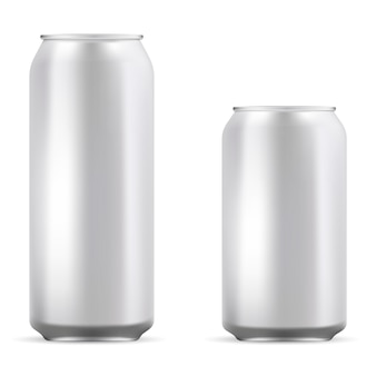 Aluminum blank cans set for beer, soda, lemonade