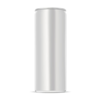 Aluminum can. slim energy drink tin.