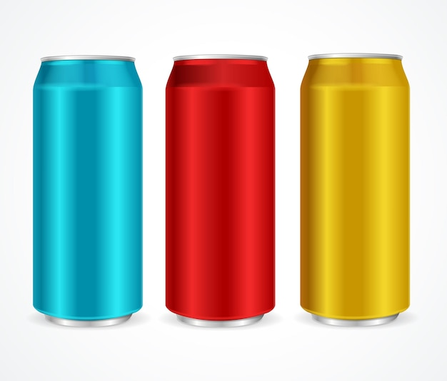 アルミ異なる色の缶