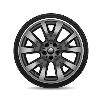 Aluminum wheel car tire