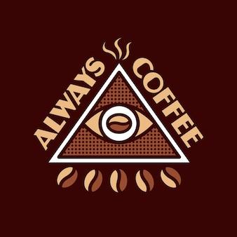 Дизайн логотипа всегда кофе