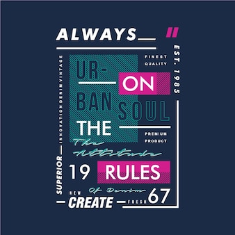 Always on the rules text frame design