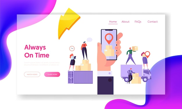 Always on time concept website template.
