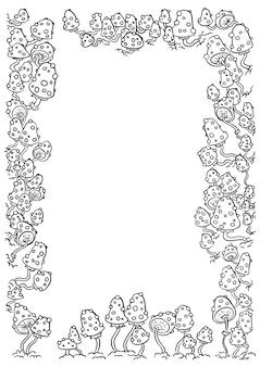 Шаблон для писем с буквенными буквами amanita mushrooms a4