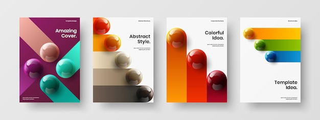 Amazing 3d spheres booklet illustration collection