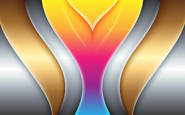 Amazing abstract geometric colorful illustration for gold banner design layout background