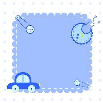 놀라운 베이비 샤워 또는 도착 세트. 태그, 배너, 라벨, 귀여운 아이 삽화가 있는 카드.