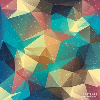 Amazing background with full color polygonal shapes