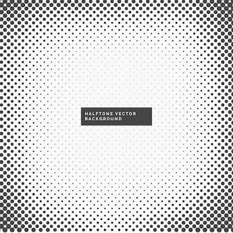 Amazing black and white background with halftone dots