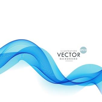 Amazing blue background with wavy shapes