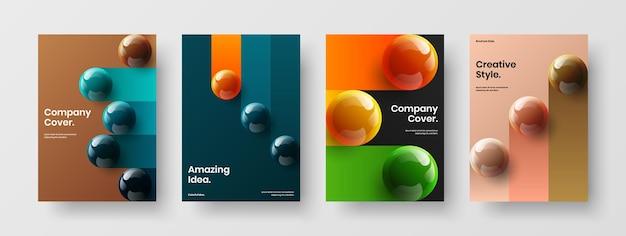 Удивительная обложка книги а4 векторный дизайн макета набор