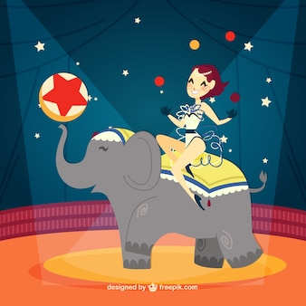 Amazing circus show illustration