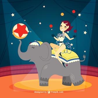 Amazing circus show illustration