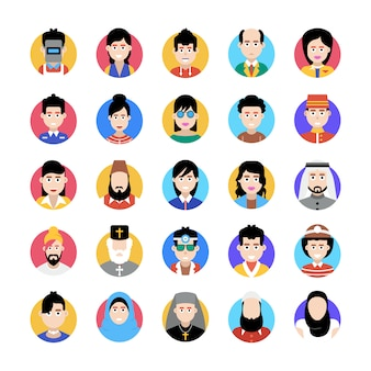 An amazing collection of professional avatar, this flat icons pack is facilitating you with its editable style