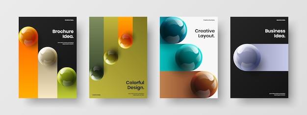 놀라운 회사 표지 a4 디자인 벡터 템플릿 세트