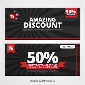 Amazing discount banners