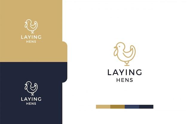 Удивительный, рисунок минималистский шаблон логотипа кур-несушек.