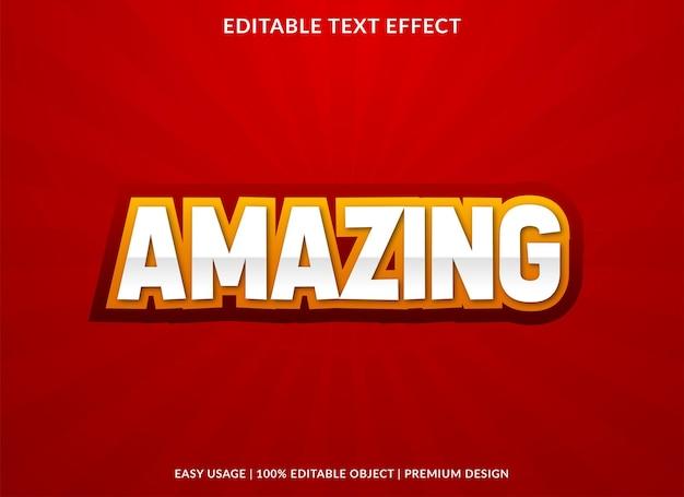 Amazing editable text effect template premium style