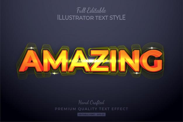 Amazing editable  text style effect premium