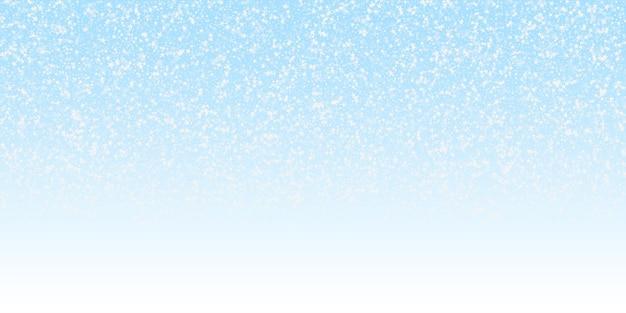 Удивительные падающие звезды рождественский фон. тонкие летающие хлопья снега и звезды на фоне ночного неба. очаровательный зимний серебряный шаблон наложения снежинки. восхитительная векторная иллюстрация.