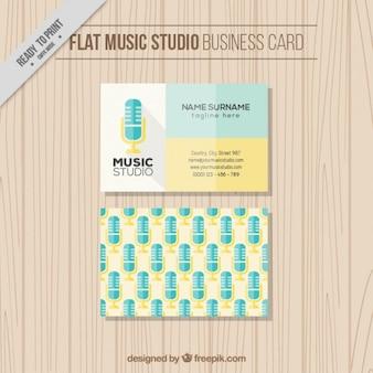 음악 스튜디오를위한 놀라운 평면 카드