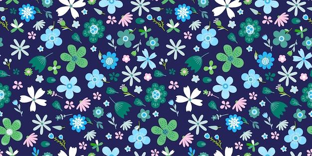 花の明るいベクトルと素晴らしい花柄