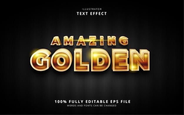 素晴らしい黄金のテキスト効果