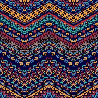놀라운 손으로 그려진 된 민족 패턴