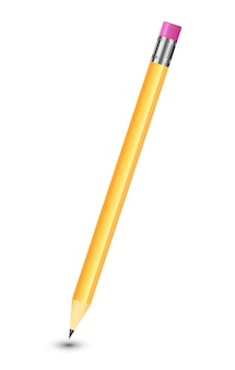 純粋な白い背景の上の素晴らしい分離鉛筆