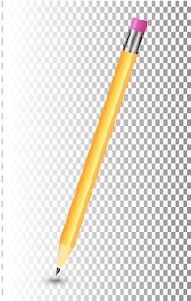 Amazing isolated pencil on transparent background transparent object