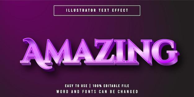 Удивительный, роскошный фиолетовый редактируемый текстовый эффект