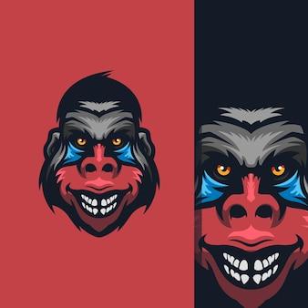 무료 편집이 가능한 놀라운 원숭이 로고