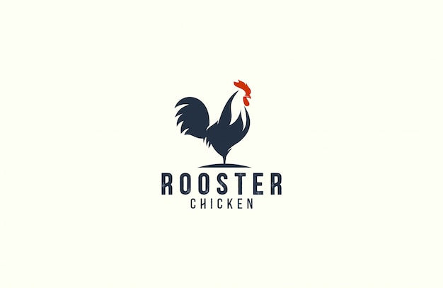 Amazing rooster logo template