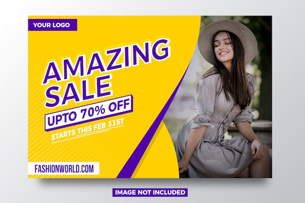 Amazing sale offer banner template