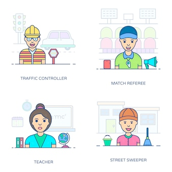 An amazing set of professional person, this flat icons pack is facilitating you with its editable style