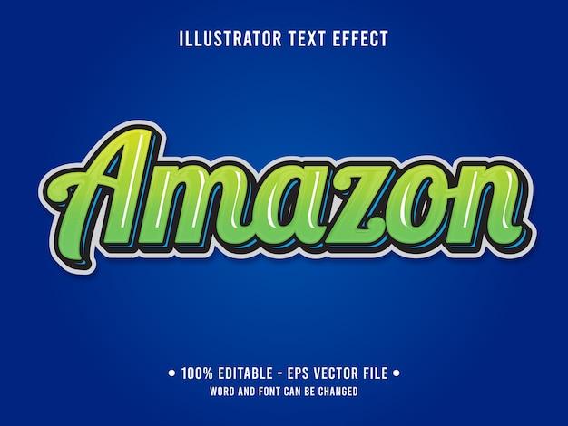 緑の色でアマゾン編集可能なテキスト効果のゼリースタイル