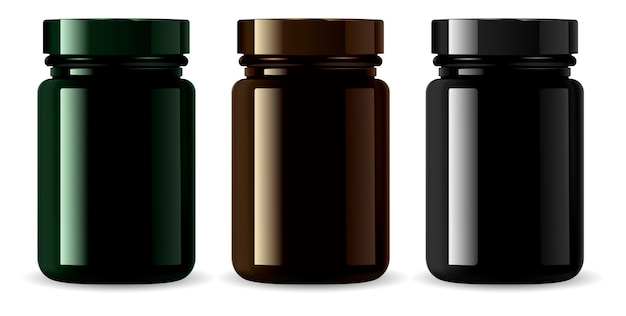 Amber medicine bottle