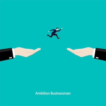 Ambition businessman