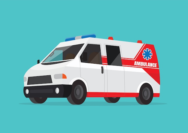 Ambulance car.