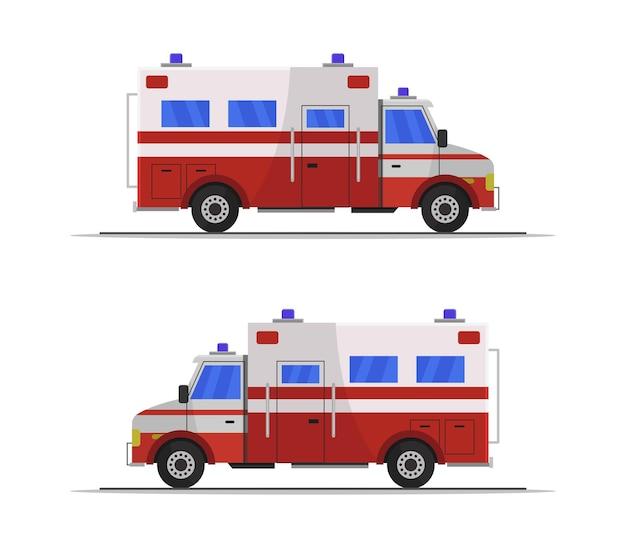 分離された救急車のクリップアート