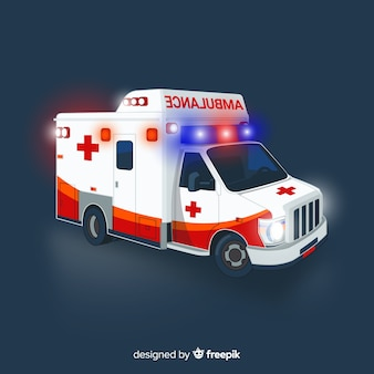 Ambulance concept in flat style