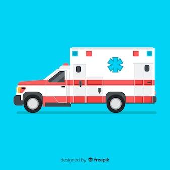 Концепция скорой помощи в плоском стиле