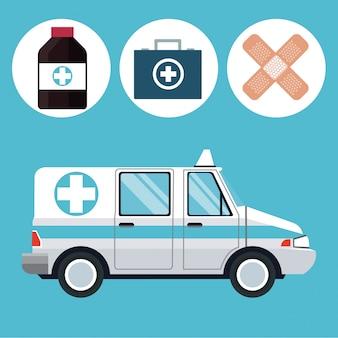 救急車の緊急車両薬のアイコン
