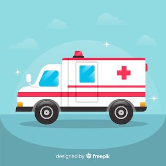 Ambulance in flat style