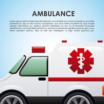 Ambulance graphic design , vector illustration