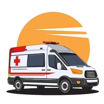 구급차는 많은 사람들을 돕는 데 도움이 되었습니다.