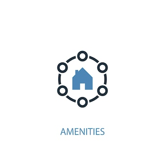 Amenities concept 2 colored icon. simple blue element illustration. amenities concept symbol design. can be used for web and mobile ui/ux