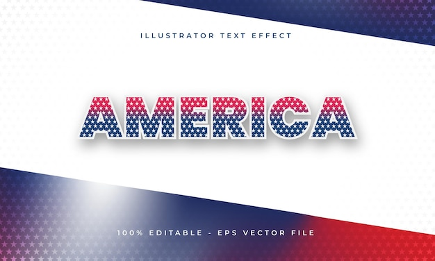America editable text effect with american flag texture