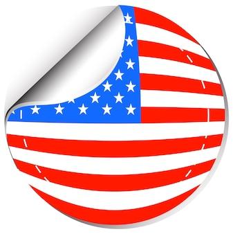 Флаг америки в дизайне наклеек