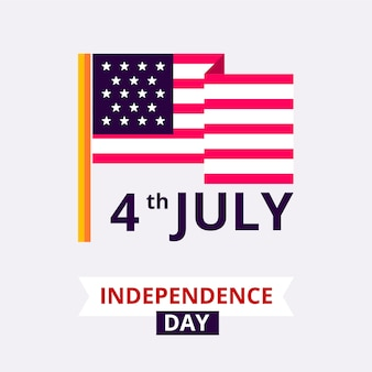 America independence day badge design.